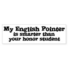 Honor Student: My English Poi Bumper Bumper Sticker