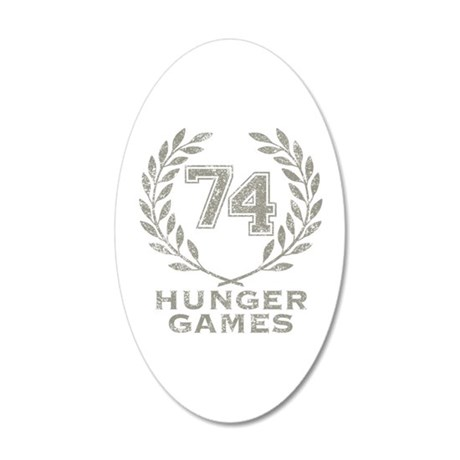74th Hunger Games 38.5 x 24.5 Oval Wall Peel