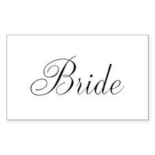 Bride Black Script Decal