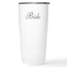 Bride Black Script Ceramic Travel Mug