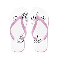 Mother of the Bride Black Scr Flip Flops