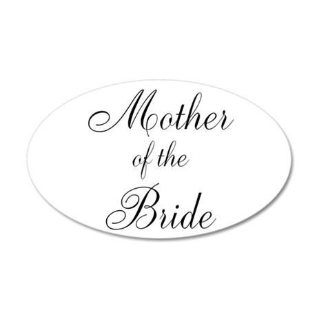 Mother of the Bride Black Scr 38.5 x 24.5 Oval Wal