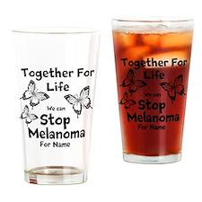 Personalize Melanoma Drinking Glass