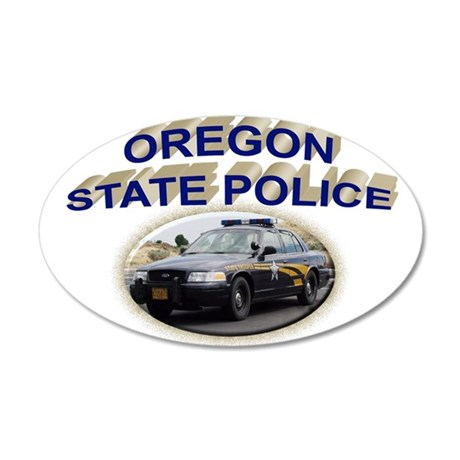Oregon State Police 38.5 x 24.5 Oval Wall Peel