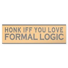 Honk IFF You Love Formal Logic Bumper Bumper Sticker