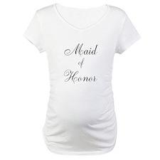 Maid of Honor Black Script Shirt