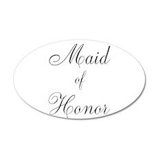 Maid of Honor Black Script 22x14 Oval Wall Peel