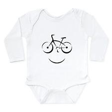 Bike Smile Long Sleeve Infant Bodysuit