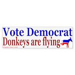 Donkeys are Flying Bumper Sticker