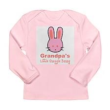 Grandpa's Snuggle Bunny Girl Long Sleeve Infant T-