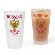 Funny Russian coat arms Drinking Glass