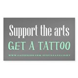 &quot;Support Arts Tattoo&quot; Decal