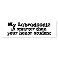 Honor Student: My Labradoodle Bumper Car Sticker