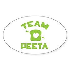 HG Team Peeta Sticker (Oval)