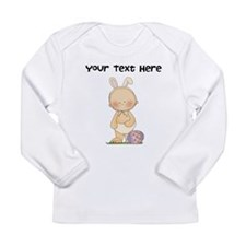 Personalize Baby Girl Easter Long Sleeve Infant T