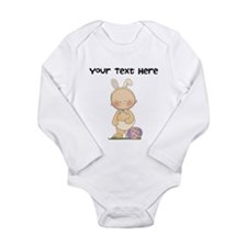 Personalize Baby Girl Easter Long Sleeve Infant