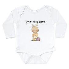 Personalize Baby Girl Easter Onesie Romper Suit
