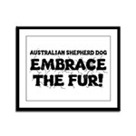 Australian Shepherd Dog Framed Panel Print