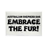 Australian Shepherd Dog Rectangle Magnet (100 pack