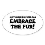 Australian Shepherd Dog Sticker (Oval 10 pk)