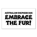 Australian Shepherd Dog Sticker (Rectangle)