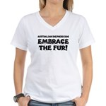 Australian Shepherd Dog Women's V-Neck T-Shirt