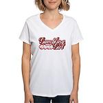 Gambling Girl Women's V-Neck T-Shirt