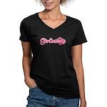 Girlicious Women's V-Neck Dark T-Shirt
