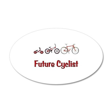 Future Cyclist 38.5 x 24.5 Oval Wall Peel