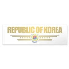 """Republic of Korea Flag"" Bumper Sticker"