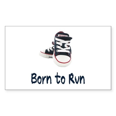 Born to Run Sticker (Rectangle)