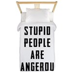 Stupid People Twin Duvet