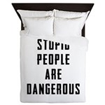 Stupid People Queen Duvet