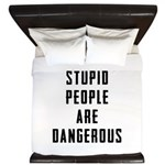 Stupid People King Duvet