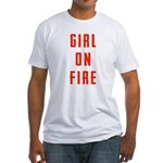 Girl On Fire 2 Fitted T-Shirt