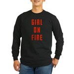 Girl On Fire 2 Long Sleeve Dark T-Shirt