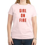 Girl On Fire 2 Women's Light T-Shirt