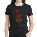Girl On Fire 2 Women's Dark T-Shirt
