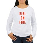 Girl On Fire 2 Women's Long Sleeve T-Shirt