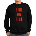 Girl On Fire 2 Sweatshirt (dark)