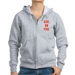 Girl On Fire 2 Women's Zip Hoodie
