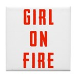 Girl On Fire 2 Tile Coaster