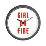 Girl On Fire 2 Wall Clock