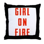 Girl On Fire 2 Throw Pillow
