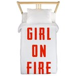 Girl On Fire 2 Twin Duvet