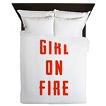 Girl On Fire 2 Queen Duvet
