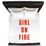 Girl On Fire 2 King Duvet
