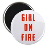 Girl On Fire 2 Magnet