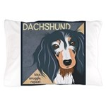 Dachshund-Kiss.Snuggle.Repeat. Pillow Case