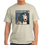 Dachshund-Kiss.Snuggle.Repeat. Light T-Shirt
